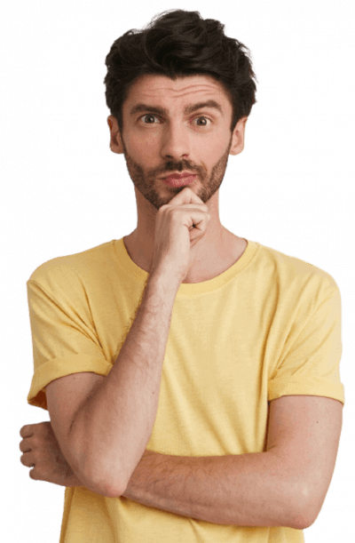 portrait pensive handsome bearded young man wears yellow t shirt looks thoughtful keeps hands folded thinking isolated white  1  removebg preview